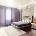 Elegant bedroom with lavender hint