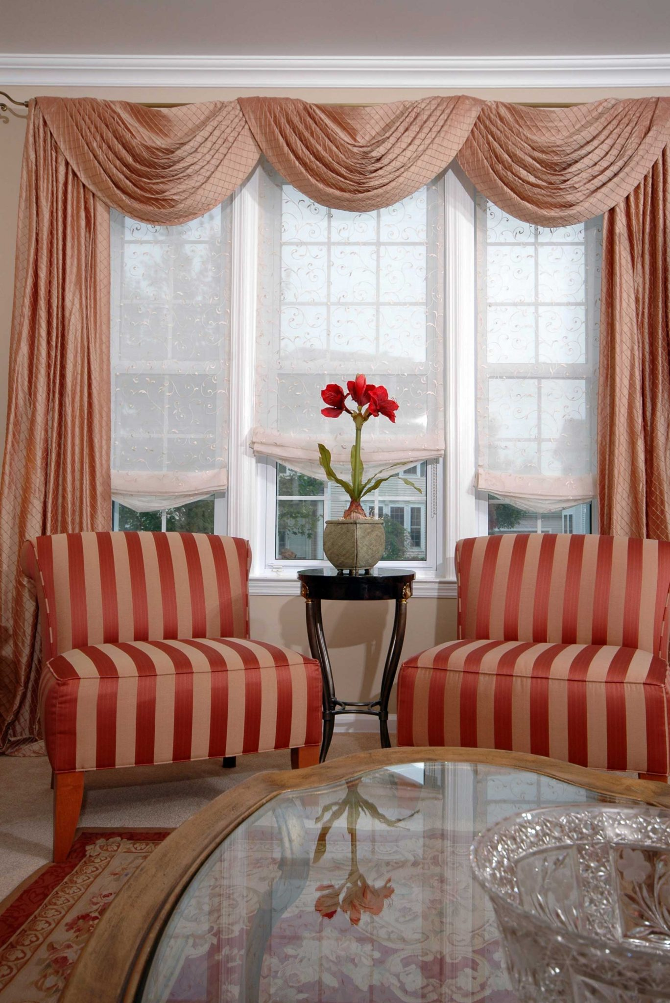 Panels linda 39 s drapery interiors for Window treatment options for large windows