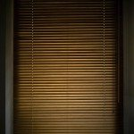 Dark wooden blinds